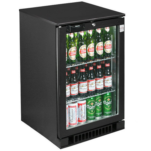 Osborne Ecold 30es Glass Door Undercounter Bottle Cooler Black