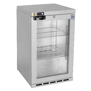 Osborne eCold 30ES Glass Door Undercounter Bottle Cooler Silver