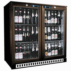 Osborne eCold 250ES Hinged Door Bottle Cooler Brown