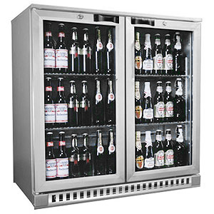 Osborne eCold 250ES Hinged Door Bottle Cooler Silver