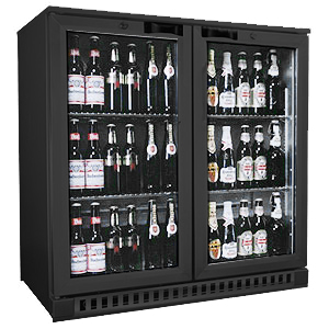 Osborne eCold 250ES Hinged Door Bottle Cooler Black