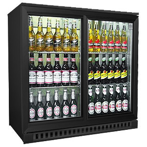 Osborne eCold 250ES Sliding Door Bottle Cooler Black