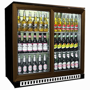 Osborne eCold 250ES Sliding Door Bottle Cooler Brown