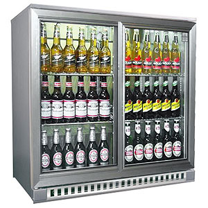 Osborne eCold 250ES Sliding Door Bottle Cooler Silver