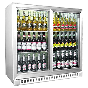 Osborne eCold 250ES Sliding Door Bottle Cooler Stainless Steel