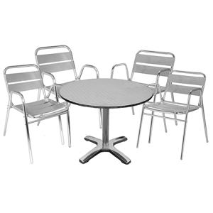 Outdoor Bistro Table & Chairs Set