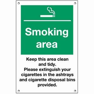 Smoking Area Exterior Notice