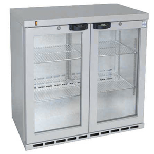 Osborne eCold 250EW Hinged Door Wine Bottle Cooler Silver