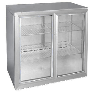 Osborne eCold 250EW Sliding Door Wine Bottle Cooler Silver