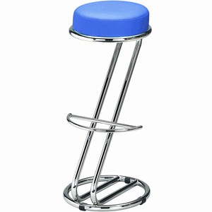 Zeta Chrome Bar Stool Capri Blue