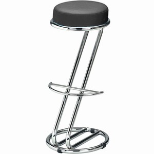 Zeta Chrome Bar Stool Ebony Black