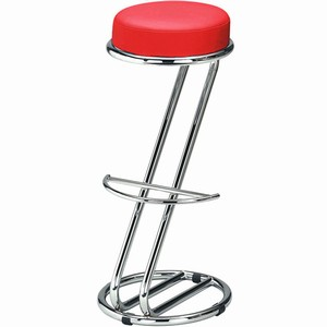 Zeta Chrome Bar Stool Ember Red