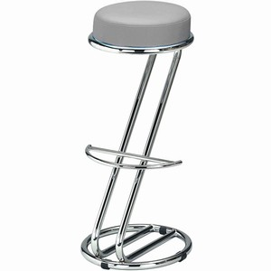 Zeta Chrome Bar Stool Grey