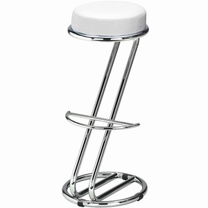 Zeta Chrome Bar Stool Snowdrop White