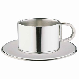 Stainless Steel Cappuccino Cups & Saucers CCD-20S 7oz / 200ml
