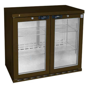 Osborne eCold 220ES Undercounter Hinged Door Bottle Cooler Brown