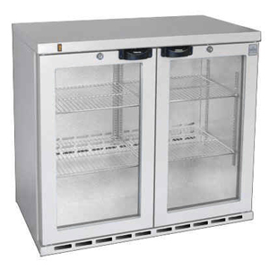 Osborne eCold 220ES Undercounter Hinged Door Bottle Cooler Silver