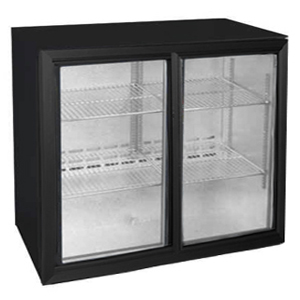 Osborne eCold 220ES Undercounter Sliding Door Bottle Cooler Black