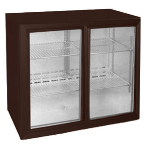 Osborne eCold 220ES Undercounter Sliding Door Bottle Cooler Brown