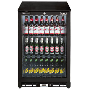 Lec BC6007K Hinged Door Bottle Cooler Black