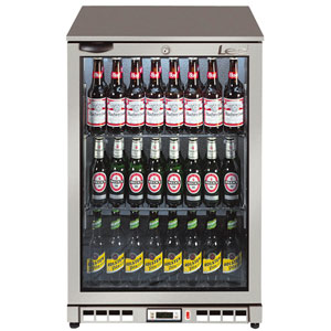 Lec BC6007G Hinged Door Bottle Cooler Silver