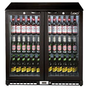 Lec BC9007K Hinged Door Bottle Cooler Black