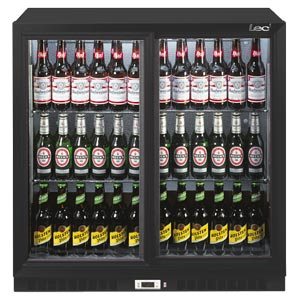 Lec BC9027K Sliding Door Bottle Cooler Black