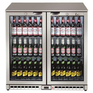Lec BC9007G Hinged Door Bottle Cooler Silver