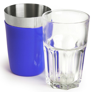 Vinyl Mini Boston Cocktail Shaker Blue