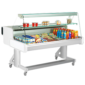 Frilixa Celebrity Flat Glass Mobile Display Counter 100F