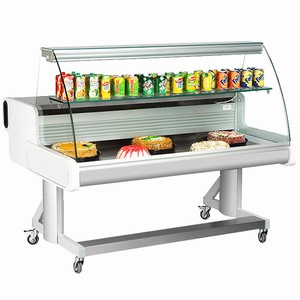 Frilixa Celebrity Curved Glass Mobile Display Counter 150C