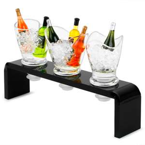 Acrylic Mini Wine Bucket Bottle Stoppers