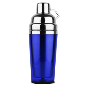 Stainless Steel Double Wall Cocktail Shaker 16oz Blue