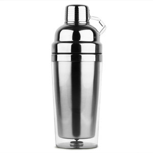 Stainless Steel Double Wall Cocktail Shaker 16oz Clear