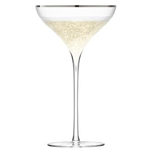 LSA Savoy Champagne Saucers Platinum 8.8oz / 250ml