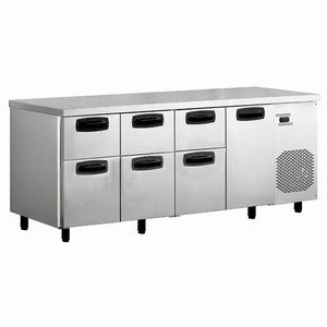 Inomak Refrigerated Counter with 6 Drawers