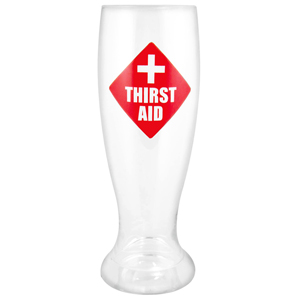 Thirst Aid Big Ass Beer Glass 2.5 Pint
