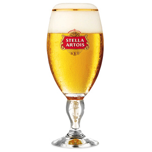 Stella Artois International Chalice Pint Glasses CE 20oz  568ml (Set of 4)