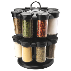 Apollo Spice Carousel with 16 Glass Jars