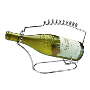 Apollo Chrome Spring Wine Bottle Holder