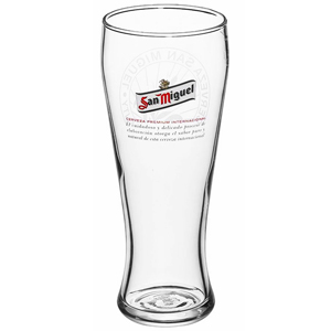 San Miguel Weizenbayerr Pint Glasses CE 20oz / 568ml