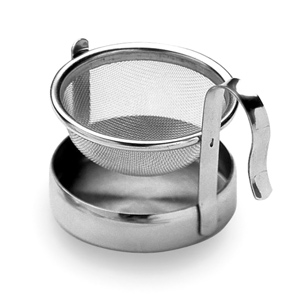 Tea Strainer with Caddy