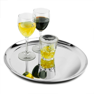 Stainless Steel Waiters Tray 14inch