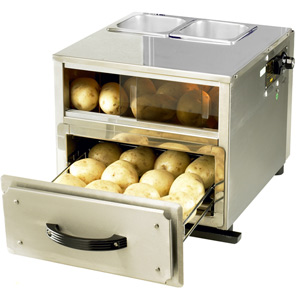 3 in 1 Baking Potato Station Stainless Steel