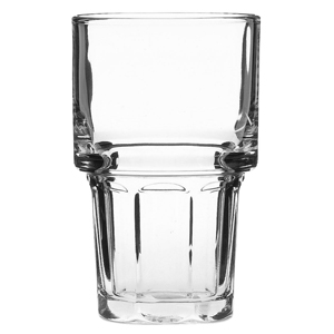 Gibraltar Stacking Beverage Glasses 12oz LCE at 10oz