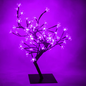 Purple LED Bonsai Tree