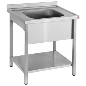 Inomak Stainless Steel Sink on Legs LA571C - Single Bowl, No Drainer