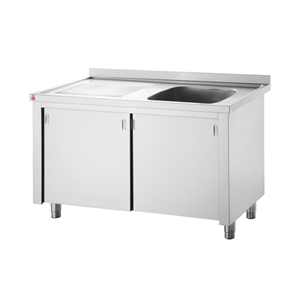 Image of Inomak Stainless Steel Sink on Cupboard LK5111R - Single Bowl, Left Hand Drainer