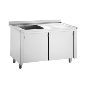Inomak Stainless Steel Sink on Cupboard LK5111L - Single Bowl, Right Hand Drainer