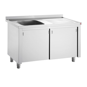 Inomak Stainless Steel Sink on Cupboard LK5141L - Single Bowl, Right Hand Drainer